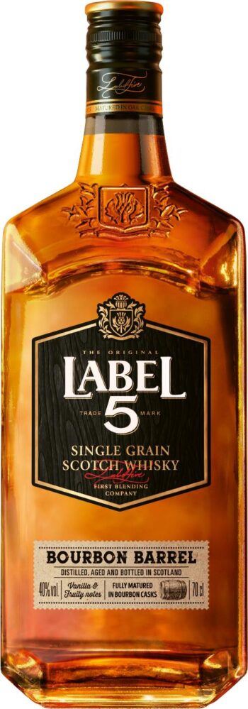 Label 5 Bourbon Barrel Scotch Whisky 70cl